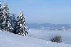 Winter in der Landschaft lizenzfreies stockbild