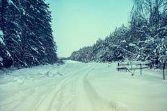 Winter in der Landschaft Stockbild