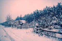 Winter in der Landschaft Stockfoto