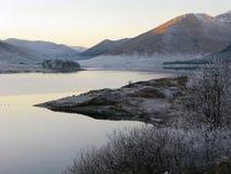 Winter an der Schlucht Garry, Schottland Lizenzfreies Stockbild