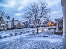Winter in der Stadt stockbilder