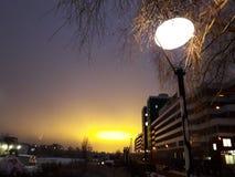 Winter in der Stadt stockfotos