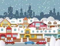 Winter in der Stadt Stockbild