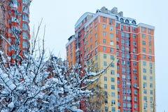 Winter in der Stadt lizenzfreie stockbilder
