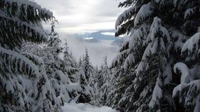 Winter in der Stadt Schneeentweichen Stockfotos