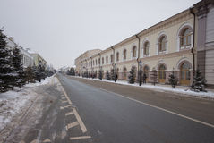 Winter deserted street Royalty Free Stock Photography