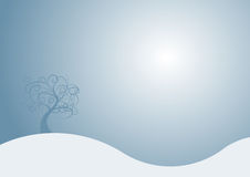 Winter design. Beautiful abstract vector winter tree design Stock Photo
