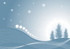 Winter design. Beautiful abstract vector winter tree design Stock Images