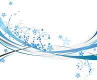 Winter design. Blue background design with snowflakes Royalty Free Stock Photography