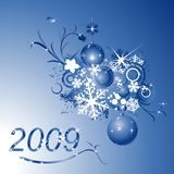 Winter design. Floral illustration for the new year 2009 royalty free illustration