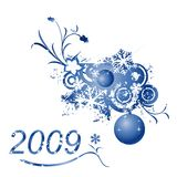 Winter design. Floral illustration for the new year 2009 Royalty Free Stock Photography