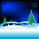 Winter design. Winter background with high detailed snowflakes. New Year's and Christmas background Royalty Free Illustration