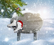 Winter design background. Space for your winter text. Royalty Free Stock Photos