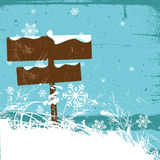 Winter design with direction sign Royalty Free Stock Image