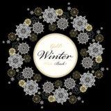 Winter design with silver white snowflakes Royalty Free Stock Photo