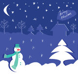 Winter design with snowman Royalty Free Stock Photo