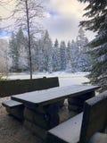 Winter in Deutschland stockbilder