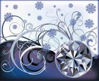 Winter diamond background Stock Photos