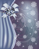 Winter diamond banner Stock Images