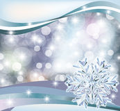 Winter diamond snowflake background Stock Photo