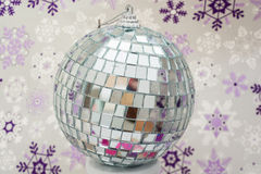 Winter disco ball Royalty Free Stock Photos