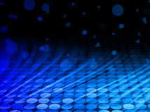Winter Disco Blue Waves on Black Background Royalty Free Stock Images