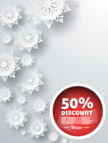 Winter Discount Best Choice Design Flat Stock Photos