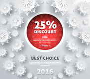 Winter Discount Best Choice Design Flat Royalty Free Stock Image