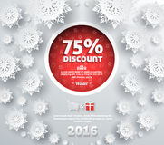 Winter Discount Best Choice Design Flat Royalty Free Stock Photo