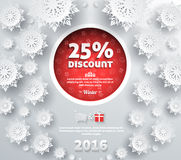 Winter Discount Best Choice Design Flat Stock Images