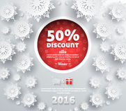 Winter Discount Best Choice Design Flat Royalty Free Stock Images