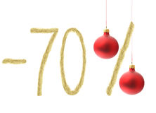 Winter 70% discount. Isolated on white background Royalty Free Stock Images