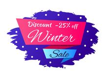 Winter Discount -25 off Vector Illustration Royalty Free Stock Image