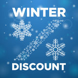 Winter discount and snow lane Royalty Free Stock Photo