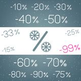 Winter discount snow rercent set royalty free illustration