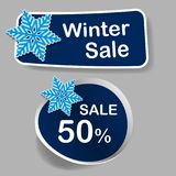 Winter discount Tag - Vector illustration Stock Photo