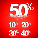 Winter Discounts Concept Royalty Free Stock Photos