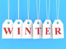 Winter discounts Stock Photo