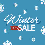 Winter discounts, promotional poster Royalty Free Stock Photos