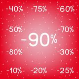 Winter discounts sale black Friday royalty free illustration