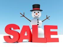 Winter discounts sales Royalty Free Stock Photos
