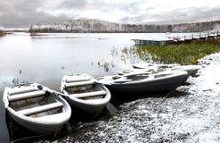 Winter Dock Royalty Free Stock Photo