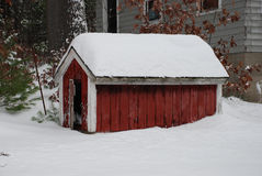 Winter Dog House Royalty Free Stock Photo