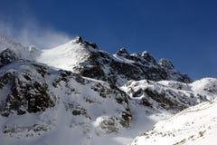 Winter in dolina Velka Studena Stockfoto