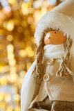 Winter doll with bokeh background  soft focus,lens blur Stock Image