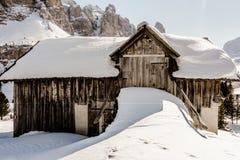 Winter dolomites farm Stock Photography