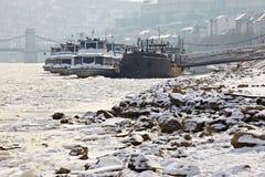 Winter Donau Lizenzfreies Stockfoto
