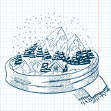 Winter doodle Royalty Free Stock Images