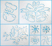 Winter doodles collection. Stylish design elements. Royalty Free Stock Image