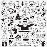 Winter doodles set Royalty Free Stock Images